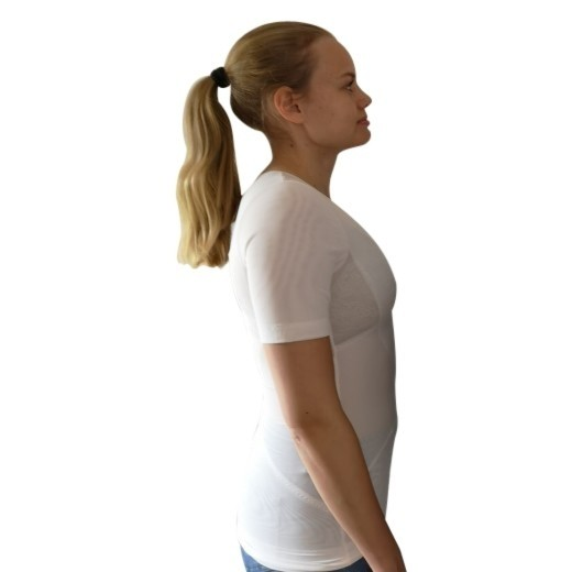 Hvid Perfect Posture T-Shirt - Damemodel