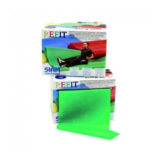 Refit Træningselastik 25m - Grøn - Medium modstand
