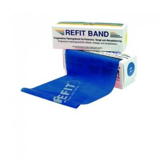 Refit Træningselastik 5,5m - Blå - Hård modstand