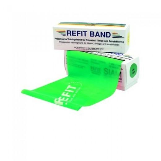 Refit Træningselastik 5,5m - Grøn - Medium modstand
