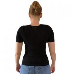 Sort Perfect Posture T-Shirt - Damemodel